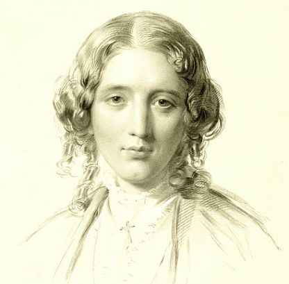 Harriet Beecher Stowe about the age that she wrote Uncle Tom's Cabin. Portrait by Francis Holl (after George Richmond), ca. 1855. Courtesy, National Portrait Gallery
