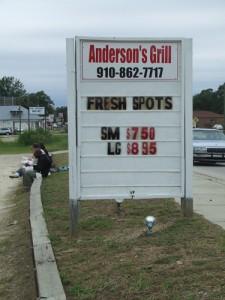 Anderson's Grill, Tar Heel (Bladen County), N.C.