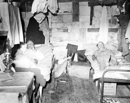 An interior view of one of the mullet camp's bunkhouses. Capt. Briant Gillikin, the number two man in the camp, rests in the bunk on the left.