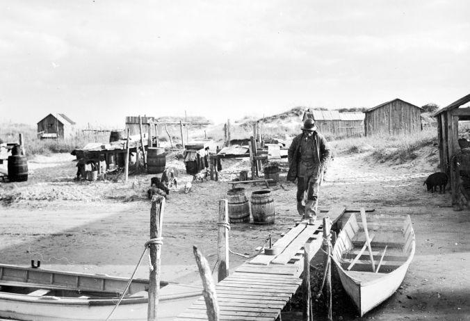 Mullet fisherman at Brown's Island, N.C.