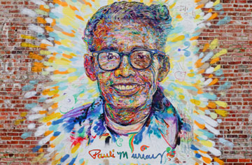 Pauli Murray mural, Chapel Hill St. in Durham, N.C.