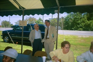 David Stick-- Frank Stick's son-- and I at a gathering in Currituck County, N.C. some years ago.
