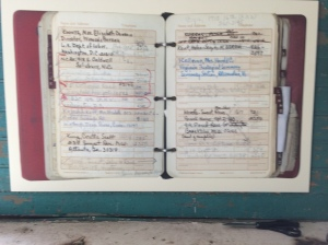 Pauli Murray's address book