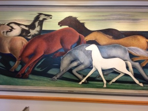 "Frank Mechau, ""Horses at Night,"" 1934. Denver Public Library Collection."
