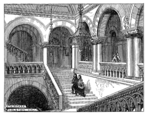 Interior of Colston Hall, Bristol, where the Wilmington Jubilee Singers sang 3 concerts in March 1877.