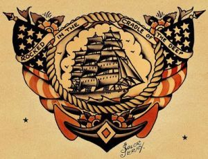 Today Mrs. Willard's hymn's title makes for a popular sailor's tattoo.