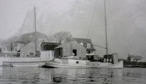 View of Swansboro waterfront, ca. 1890-1900.