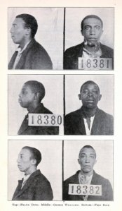 Frank Dove, George Williams and Fred Dove (top to bottom). While the State electrocuted their 15-yr-old friend, Fred Harrison, in 1923, Gov. A. W. McLean pardoned these 3 young men after they had served 6 years on Death Row.