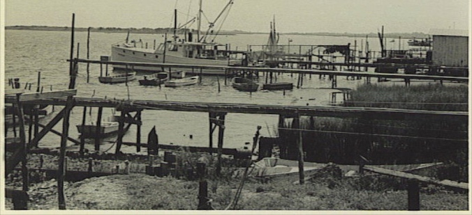 Swansboro waterfront, early 20th century.