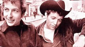 "Ramblin' Jack Elliott, right, with Bob Dylan in Greenwich Village in the early 1960s. You can hear Ramblin' Jack's version of ""Sowing on the Mountain"" here. It's one of my favorites of his songs."