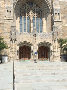 Main entrance, Sterling Library, Yale University, New Haven, Conn.