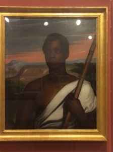 Portrait of Joseph Cinque, by Nathaniel Jocelyn, ca. 1840. Cinque was a Mende rice farmer and leader of the captives who staged a slave revolt and took over the slave schooner Amistad in 1839. The trial that ultimately upheld their status as free persons was held in New Haven.