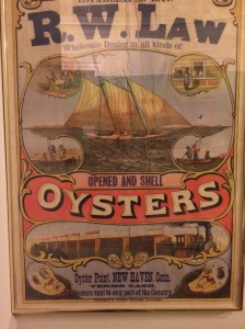Advertisement for R.W. Law, oyster wholesalers, New Haven, Conn., late 19th century.