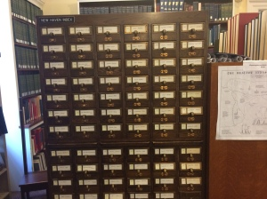 Card catalog, Whitney Library, New Haven Museum.