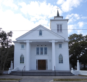 Purvis Chapel AME Zion Church today. The church was used as a meeting place for civil rights activists as early as the Civil War. It was one of the first two AME Zion churches organized in the American South.