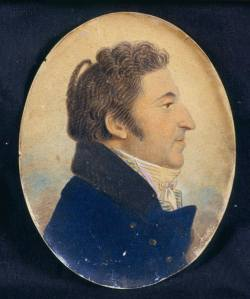 Profile miniature of Aaron Rodriguez Rivera, early 19th century.