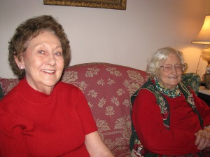 Rosemary Canady Dees, left, and her aunt Marjorie Smith Conder, at the family home on Front Street.