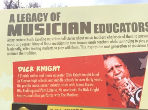 One of the signboards on the Kinston Music Park's Walk of Fame