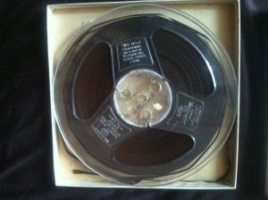 The original audiotape that Professor Miller discovered at the Braswell Memorial Library, Rocky Mount, N.C.