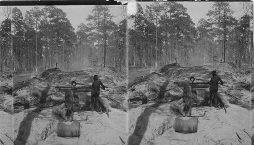 A tar kiln and tar burner in North Carolina, date unknown, exact location unknown. Courtesy, Keystone-Mast Collection, UCR/California Museum of Photography, University of California at Riverside