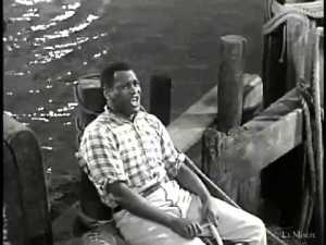 Attorney, Hall of Fame athlete, actor, human rights activist and singer Paul Robeson in the 1936 movie version of Showboat.