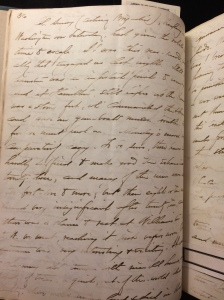 A page from Edward H. Hall's journal.