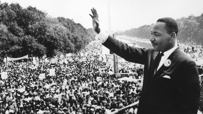 The Rev. Dr. Martin Luther King, Jr. at the March on Washington, Aug. 28, 1963.