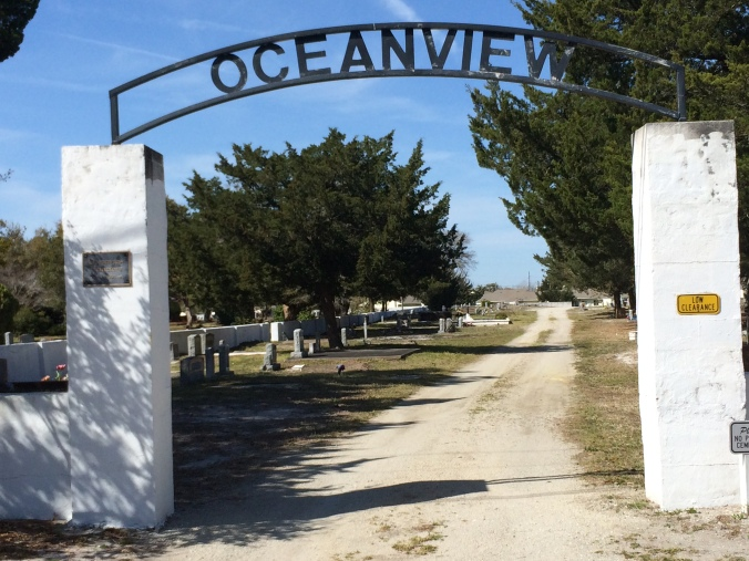 Ann Street entrance, Oceanview Cemetery, Beaufort, N.C. All photos by David Cecelski