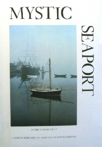 My favorite Mystic Seaport poster, maybe because it reminds me so much of that foggy morning when my family and I woke up on the L. A. Dunston. Designed in mid-1970s by Gainor E. Roberts, photograph by Oliver Denison.