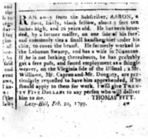 From the The Herald of Freedom (Edenton, N.C.), 27 March 1799.