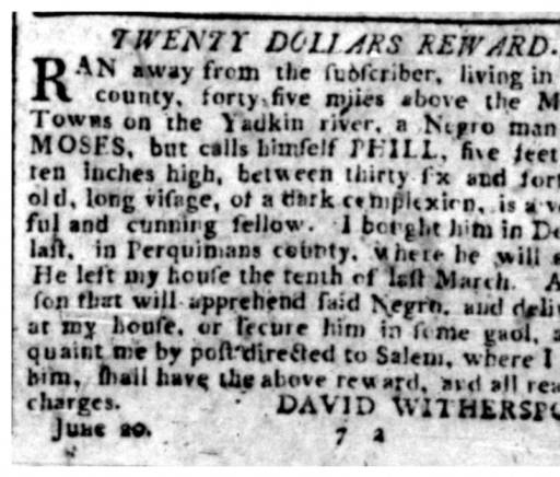 From the Halifax Journal (Halifax, N.C.), 4 July 1796