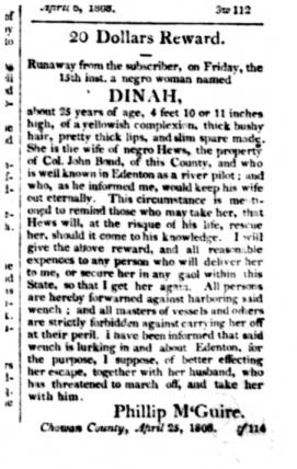 From the Edenton Gazette and North Carolina General Advertiser, 27 April 1808