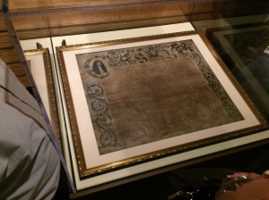 Carolina Charter of 1663, on display at the Museum of the Albemarle, Elizabeth City, N.C.