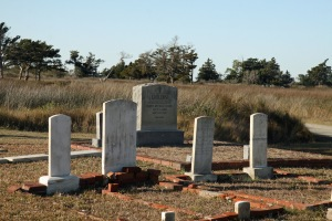 One of Portsmouth village's cemeteries. Courtesy, Ocracoke Observer
