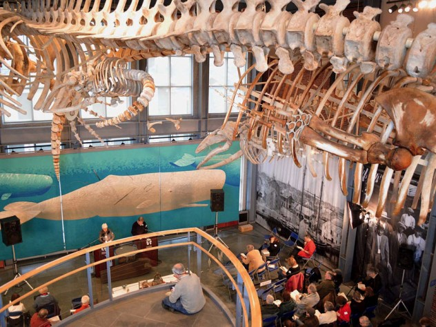 My daughter and I have long dreamed of attending the annual Moby-Dick Marathon, a non-stop public reading of Herman Melville's masterpiece at the New Bedford Whaling Museum in New Bedford, Mass. Photo courtesy, New Bedford Whaling Museum