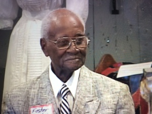 Mr. Foster McClain, of Whiteville, N.C., age 89, recalled his childhood visits to Lake Waccamaw's Independence Day festival. Courtesy, Lake Waccamaw Depot Museum