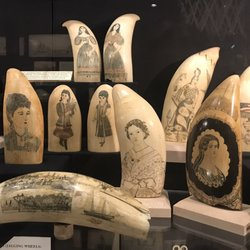Examples of scrimshaw. Courtesy, New Bedford Whaling Museum.