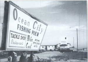 The Ocean City Fishing Pier, circa 1960. For years it was the only ocean fishing pier in North Carolina that was open to people of color. Courtesy, Ocean City Beach Citizens Council