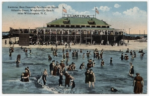 Postcard of the Lumina Pavilion, Wrightsville Beach, N.C., circa 1917. From the North Carolina Collection, Wilson Library, UNC-Chapel Hill Library