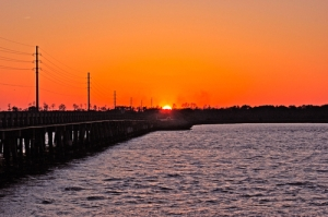 The North River Bridge at sunset. Courtesy, Trip-Suggest user ocracokewa