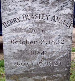 Henry Beasley Ansell's grave marker, Barco, N.C. Photo courtesy of Josh Myers
