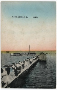 Postcard of ferry landing at Nags Head, ca. 1910-20. From the North Carolina Collection, Wilson Library, UNC-Chapel Hill Library