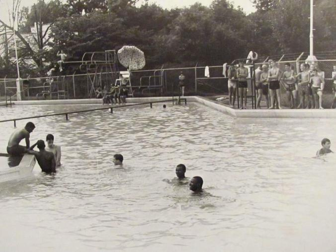 Four young black people at least momentarily integrated the swimming pool at Pullen Park in Raleigh on August 7, 1962. In response, the city later closed the pool. Courtesy, Raleigh City Museum