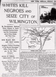 New York Herald article on the white supremacy campaign's local actions in Wilmington, N.C.