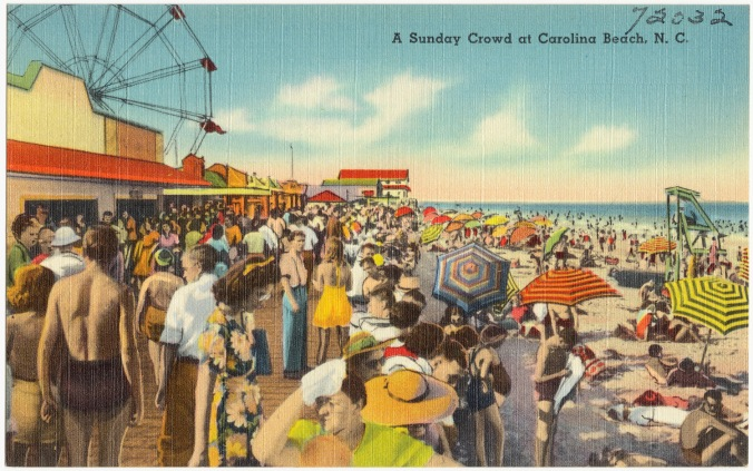 Carolina Beach postcard, ca. 1930-45. From the Tichnor Brothers Collection, Boston Public Library