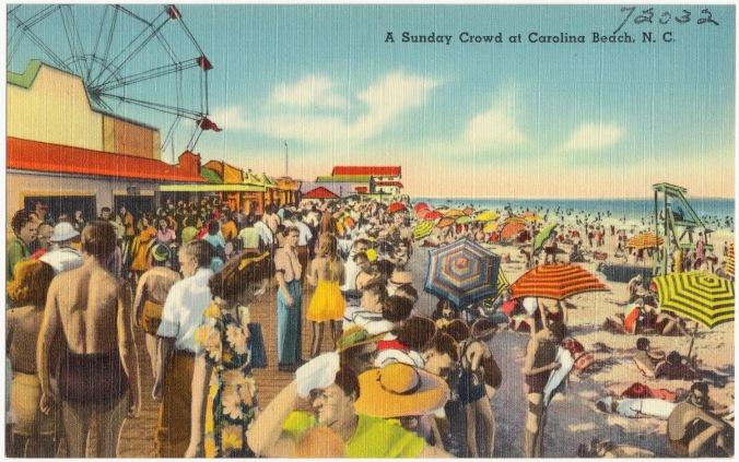 Carolina Beach postcard, ca. 1930-45. From the Tichnor Brothers Collection, Boston Public Library