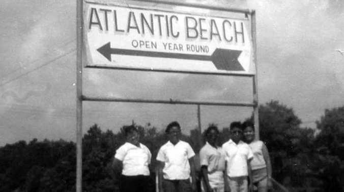 In the Jim Crow era, many black vacation goers also left North Carolina and traveled to Atlantic Beach, an African American beach resort located between Myrtle Beach and North Myrtle Beach, South Carolina. Photo courtesy, Town of Atlantic Beach