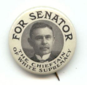 Campaign button for Furnifold Simmons (1854-1940). Simmons represented North Carolina in the U.S. Senate for 30 years.