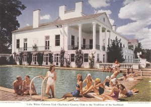"""One of Charlotte's all-white pools. This one is at the Charlotte Country Club. From W. J. Cash, """"Close View of a Calvinist Lhasa,"""" in The American Mercury (April 1933)."""