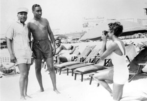 Martin Luther King, Jr. and his family vacationed at Chicken Bone Beach in the late 1950s. From John W. Mosely Collection, Charles L. Blockson Collection at Temple University Libraries